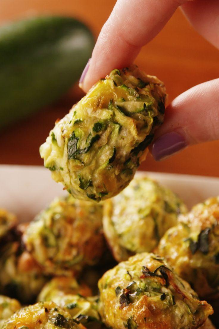 "<p>Too tot to handle.</p><p>Get the recipe from <a href=""https://www.delish.com/cooking/recipe-ideas/a21602155/zucchini-tater-tots-recipe/"" rel=""nofollow noopener"" target=""_blank"" data-ylk=""slk:Delish"" class=""link rapid-noclick-resp"">Delish</a>.</p>"
