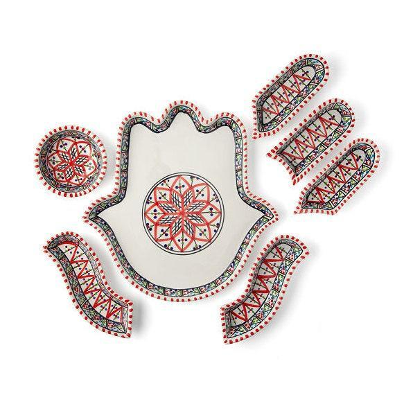 """Help grandma ward off the bad vibes of 2020 with this Hamsa serving platter. The palm shape has been a symbol of protection since ancient Mesopotamia. $65, Uncommon Goods. <a href=""""https://www.uncommongoods.com/product/hamsa-mezze-server"""" rel=""""nofollow noopener"""" target=""""_blank"""" data-ylk=""""slk:Get it now!"""" class=""""link rapid-noclick-resp"""">Get it now!</a>"""