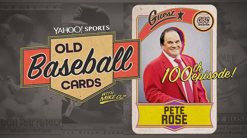 """Pete Rose is the guest on the 100th episode of """"Old Baseball Cards."""" (Yahoo Sports)"""