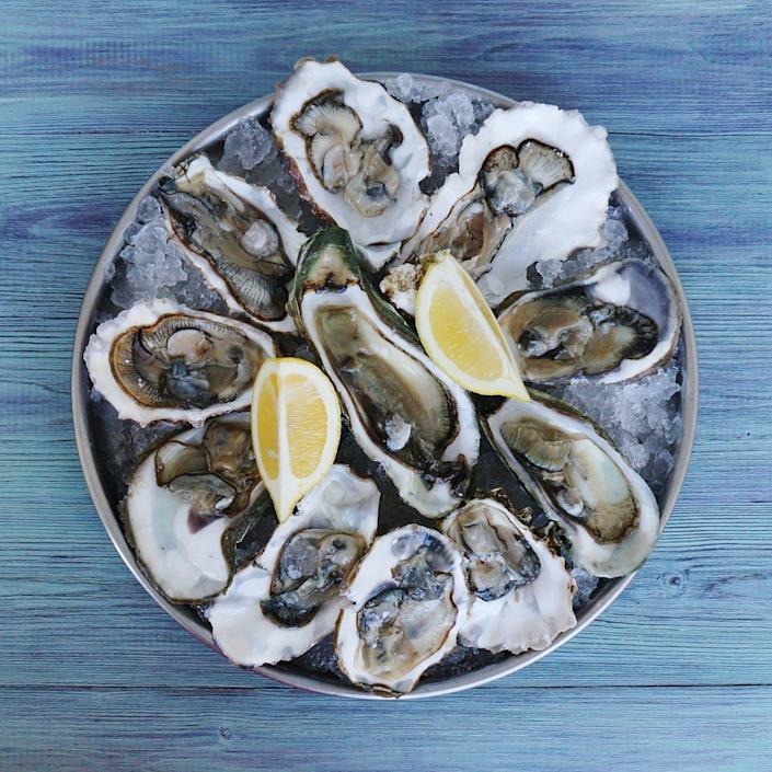 <p>These slippery gray miracles are nature's champ when it comes to zinc, a mineral necessary for immunity. Oysters are also a rich source of iron—a nutrient many vegetable-centric eaters don't get enough of. Too little iron can lead to red blood cell deficiencies, fatigue, headaches, and other ailments. Just one raw oyster contains nearly 3 milligrams of iron—or a sixth of your daily 18-milligram goal.</p>