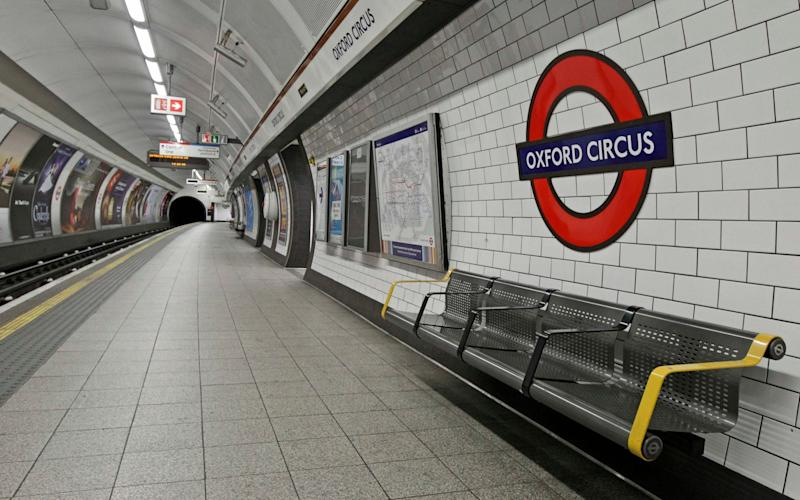 Witnesses said a man in his mid-20s was jostled by crowds before falling onto the platform at Oxford Circus this evening - Reuters