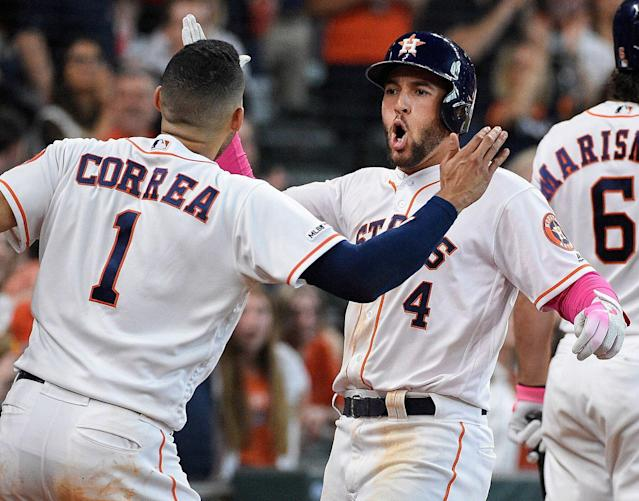 George Springer and the Astros are back in the No. 1 spot in our MLB Power Rankings. (AP Photo/Eric Christian Smith)