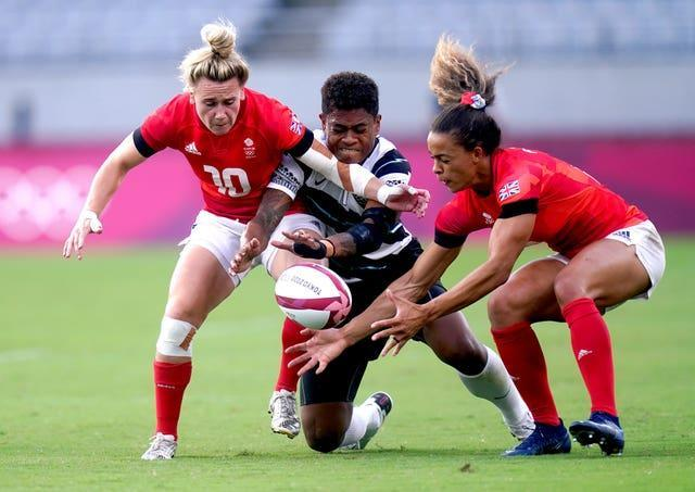 Team GB and Fiji in action