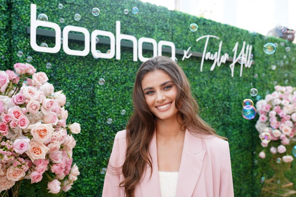 MALIBU, CALIFORNIA - OCTOBER 13: Taylor Hill attends boohoo x Taylor Hill Tea Party at The Beverly Hills Hotel on October 13, 2019 in Beverly Hills, California. (Photo by Presley Ann/Getty Images for boohoo.com)