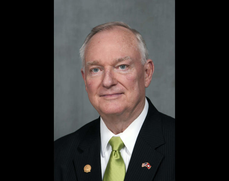 "In this Feb. 23, 2012 photo provided by the Arkansas Secretary of State's office shows Jon Hubbard. Arkansas Republicans are speaking out against ""offensive"" statements by a GOP state representative who is running for re-election and a former GOP legislator running for a state House seat. The state GOP chairman, the Arkansas Republican House Caucus and U.S. Rep. Tim Griffin issued statements Saturday, Oct. 6, 2012 criticizing books written by Rep. Jon Hubbard of Jonesboro and former legislator Charlie Fuqua, who is running for a Batesville-area seat. (AP Photo/Arkansas Secretary of State, Lori McElroy)"