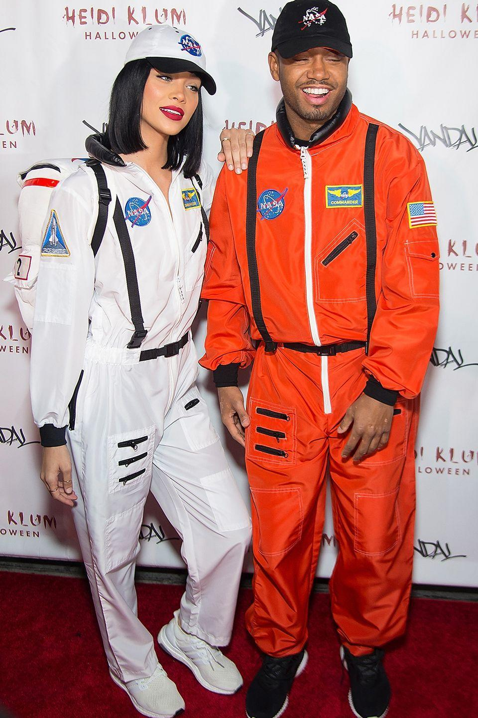 <p>In 2016, model Jasmine Sanders and actor Terrence J wore matching NASA astronaut costumes for Heidi Klum's 17th annual Halloween party at Vandal in New York City. </p>