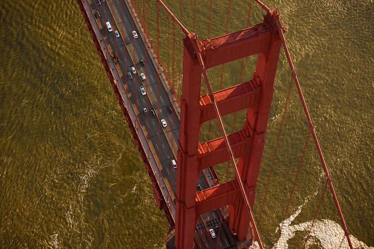 <p>Golden Gate Bridge, San Francisco – Total height is 746 ft (227.4 m). (Photo: Jassen Todorov/Caters News) </p>