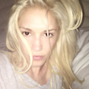 """We're used to <a href=""""http://www.glamour.com/story/gwen-stefani-2016-billboard-music-awards-makeup-performance?mbid=synd_yahoo_rss"""" rel=""""nofollow noopener"""" target=""""_blank"""" data-ylk=""""slk:her red lip and cat eye"""" class=""""link rapid-noclick-resp"""">her red lip and cat eye</a>, but we think no makeup could be her new signature look."""
