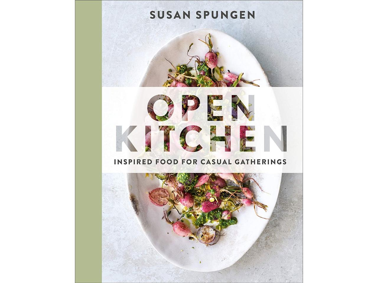 """<p>Susan Spungen, the founding food editor of <i>Martha Stewart Living</i>, shares accessible recipes for vegetable-forward, delicious meals. Her stress-free prep tips are as helpful for hosting as they are for weeknight dinners.</p> <p><strong><em>Open Kitchen: Inspired Food for Casual Gatherings</em> by Susan Spungen (2020), $35 at <a href=""""https://www.amazon.com/Open-Kitchen-Inspired-Casual-Gatherings/dp/0525536671/ref=as_li_ss_tl?ie=UTF8&linkCode=ll1&tag=fwvegetariancookbooksmsoll0120-20&linkId=c466f74bebb33e0480e9beb9fc9004a0&language=en_US"""" target=""""_blank"""">amazon.com</a></strong></p>"""