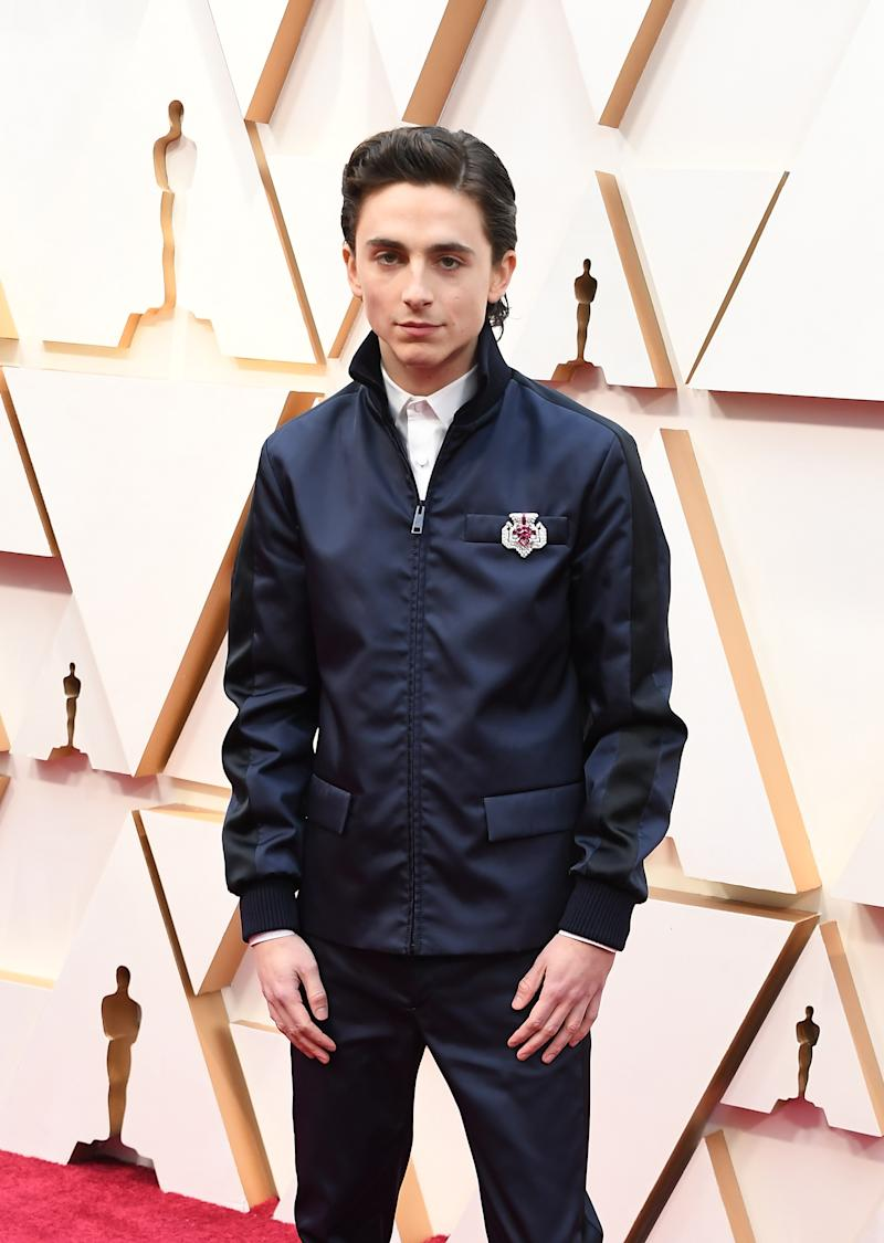 HOLLYWOOD, CALIFORNIA - FEBRUARY 09: Timothée Chalamet attends the 92nd Annual Academy Awards at Hollywood and Highland on February 09, 2020 in Hollywood, California. (Photo by Steve Granitz/WireImage)