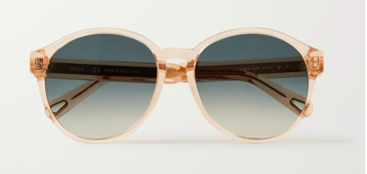 Chloe willow round-frame acetate and gold-tone sunglasses, 60% off,US$204.85/ Approx. SGD286 (was US$547.98). PHOTO: NET-A-PORTER