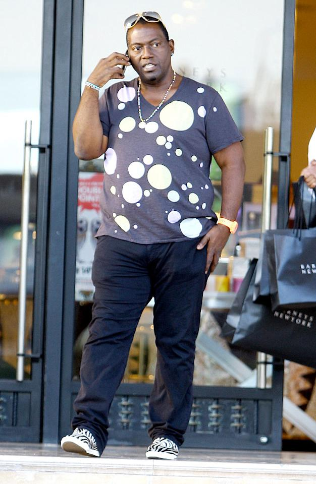 "Randy Jackson needs to lose either that shirt or those shoes; the competing patterns are headache-inducing. Juliano/<a href=""http://www.x17online.com"" target=""new"">X17 Online</a> - September 17, 2009"