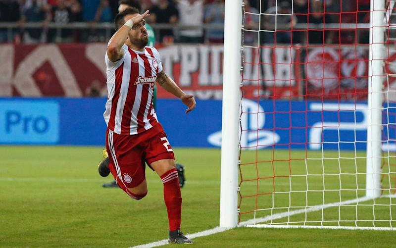 Olympiakos have fought back from 2-0 down against Spurs in Piraeus - AP