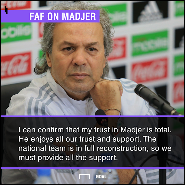 The coach has been heavily criticised since taking over at the helms of the Fennecs but the country's football authorities insist they are behind him