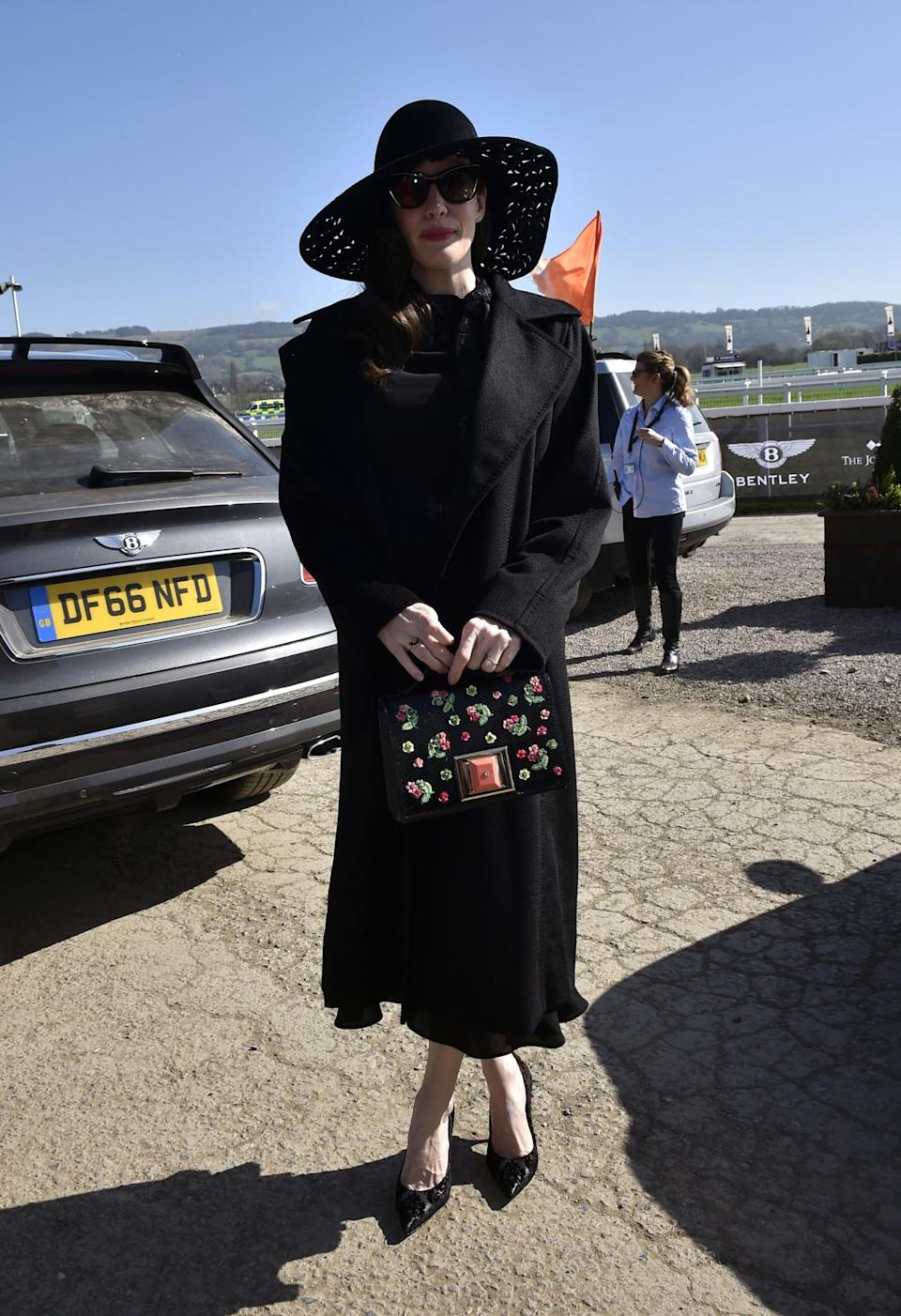 <p>Tyler might regret going for so much black on what's turned out to be an uncharacteristically sunny day [Photo: PA] </p>