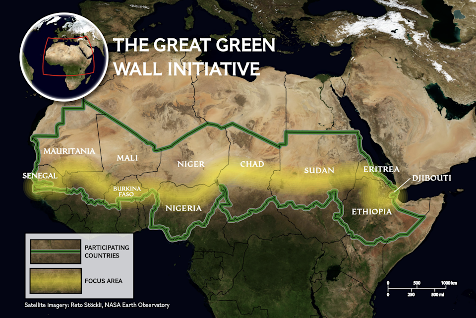 Africa's ambitious project to re-green the Sahel regionNasa