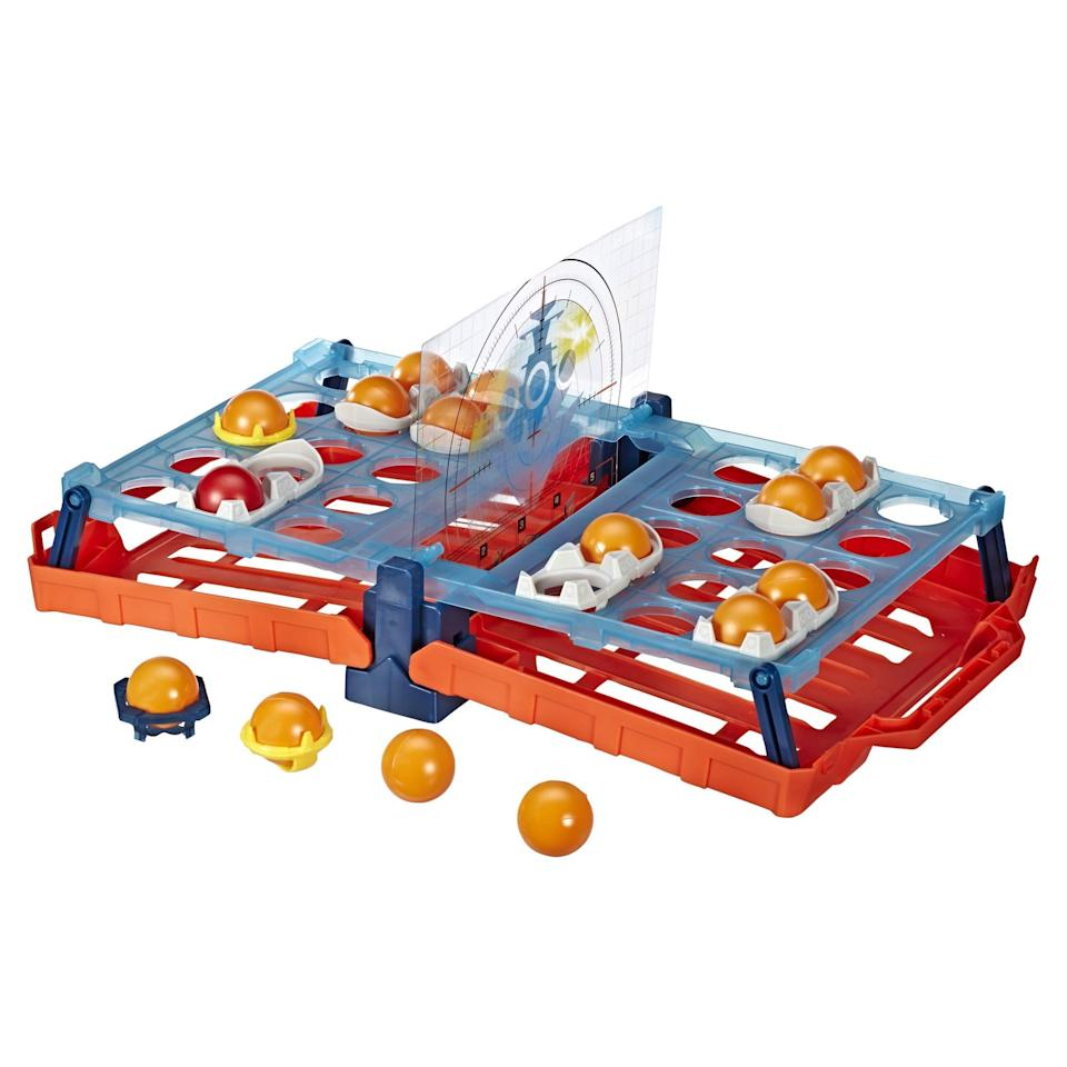 <p>Kids 8 and up can go head-to-head in <span>Battleship Shots</span> ($20), a game that adds new elements to the classic.</p>