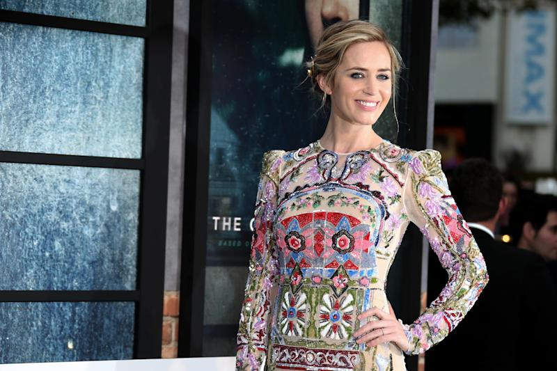 Actress Emily Blunt poses for photographers upon arrival at the premiere of the film 'The Girl On The Train' in London, Tuesday, Sept. 20, 2016. (Photo by Joel Ryan/Invision/AP)