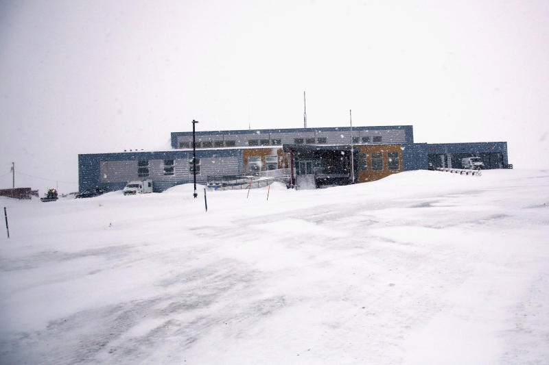 This Feb. 22, 2019, photo shows the Nome, Alaska police station located on a tundra road outside of town. An internal cold case audit has uncovered evidence that the agency regularly failed to fully investigate sexual assaults. The launch of the audit earlier this year by Nome Police Chief Robert Estes raised hopes his department was ready to confront concerns about its handling of sex assaults. But Estes recently resigned his post, saying the city failed to provide enough resources to continue the case audit or police the city on a daily basis. (AP Photo/Wong Maye-E)