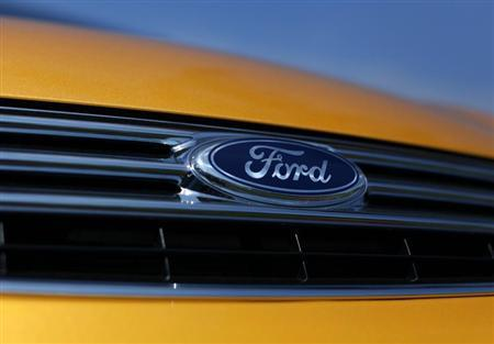 A Ford Fiesta vehicle sits for sale on a dealership lot in Encinitas, California