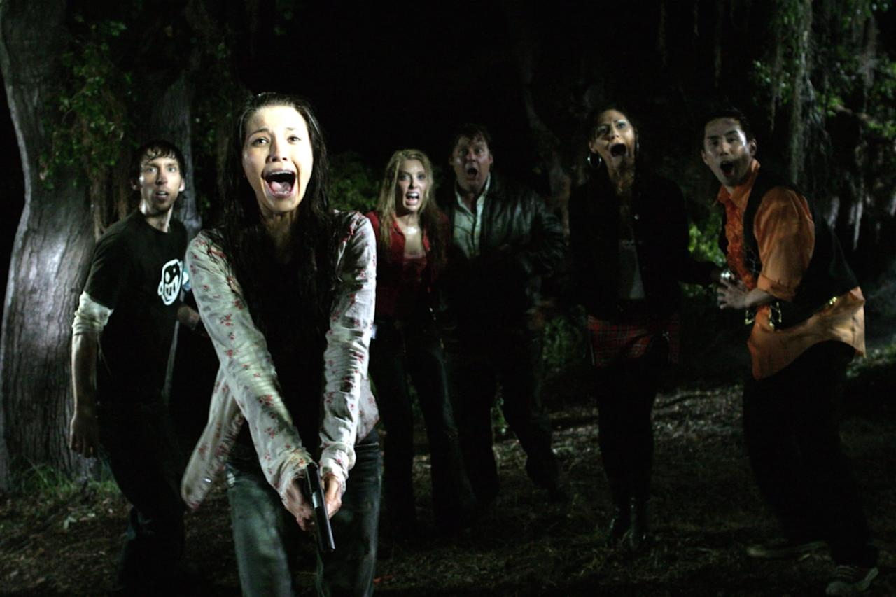 """<p>Released in 2007, <strong>Hatchet</strong> is the whole slasher package: there's a genuinely creepy (and mysterious) killer, an unexpected setting, and a whole lot of twisted kills. The movie kicks off when two college students decide that Mardi Gras isn't exciting enough for them for some reason, and they decide to take a boat tour in the bayou at night with a bunch of strangers. Soon their guide starts filling them in on the swamp's legendary serial killer, and things go downhill for the students from there. </p> <p><strong>Where to watch</strong>: <a href=""""https://www.popsugar.com/buy?url=https%3A%2F%2Fwww.amazon.com%2Fgp%2Fvideo%2Fdetail%2FB07VMBLVR2%2Fref%3Datv_dl_rdr&p_name=Amazon%20Prime&retailer=amazon.com&evar1=buzz%3Aus&evar9=46686811&evar98=https%3A%2F%2Fwww.popsugar.com%2Fentertainment%2Fphoto-gallery%2F46686811%2Fimage%2F46690063%2FHatchet&prop13=api&pdata=1"""" rel=""""nofollow"""" data-shoppable-link=""""1"""" target=""""_blank"""" class=""""ga-track"""" data-ga-category=""""Related"""" data-ga-label=""""https://www.amazon.com/gp/video/detail/B07VMBLVR2/ref=atv_dl_rdr"""" data-ga-action=""""In-Line Links"""">Amazon Prime</a></p>"""