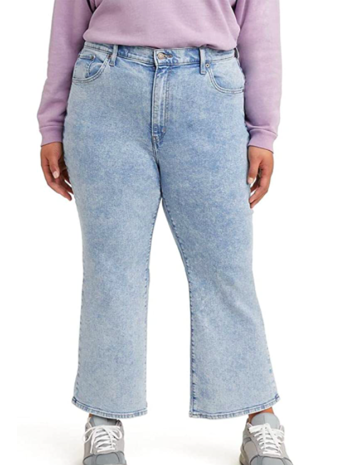 Levi's Womens Plus-Size High Waisted Crop Flare