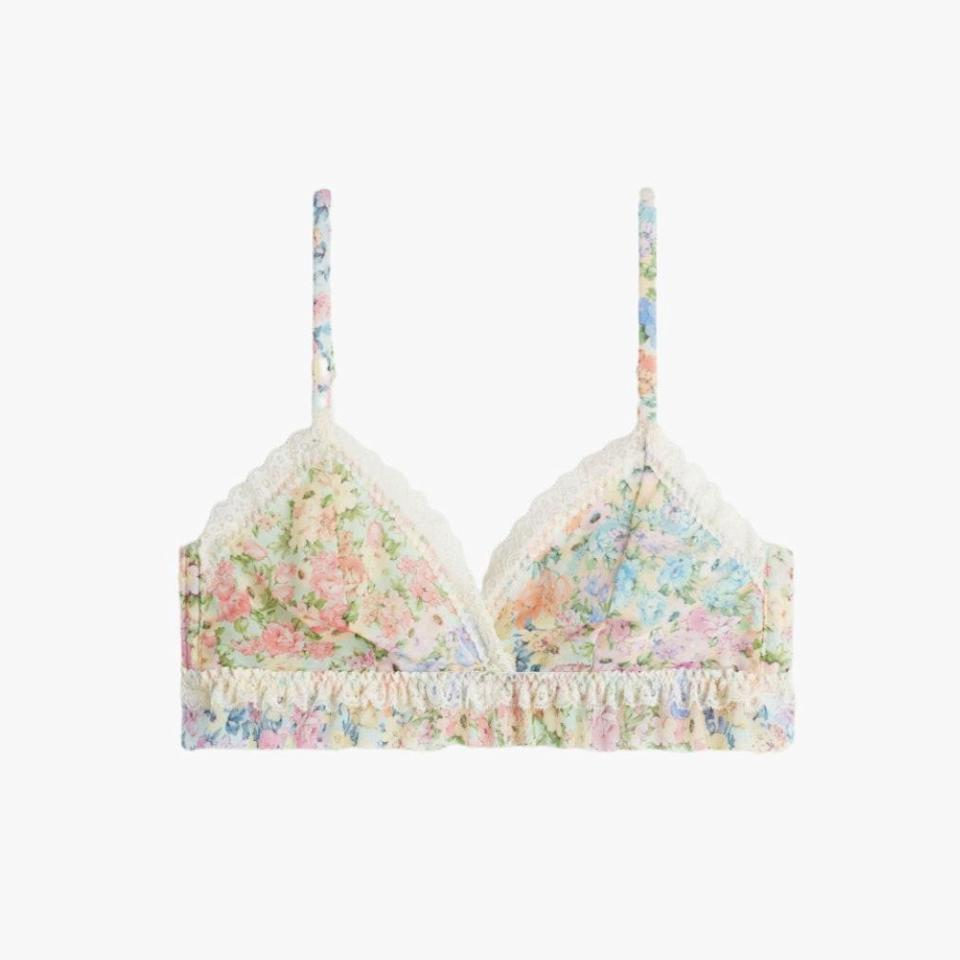 """At Intimissimi, bras are $19 through Monday, May 31. $49, INTIMISSIMI. <a href=""""https://www.intimissimi.com/us/product/flower_explosion_emma_triangle_bra-RSD1426.html?dwvar_RSD1426_Z_COL_INTD=5113"""" rel=""""nofollow noopener"""" target=""""_blank"""" data-ylk=""""slk:Get it now!"""" class=""""link rapid-noclick-resp"""">Get it now!</a>"""