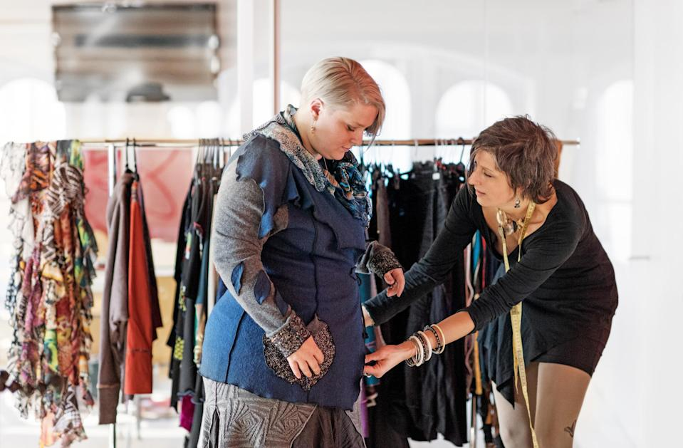"""""""Whatever the cause, what I DO promote is that people, overweight or not, should be able to dress to feel good about themselves.""""<em> (Photo: Getty)</em>"""