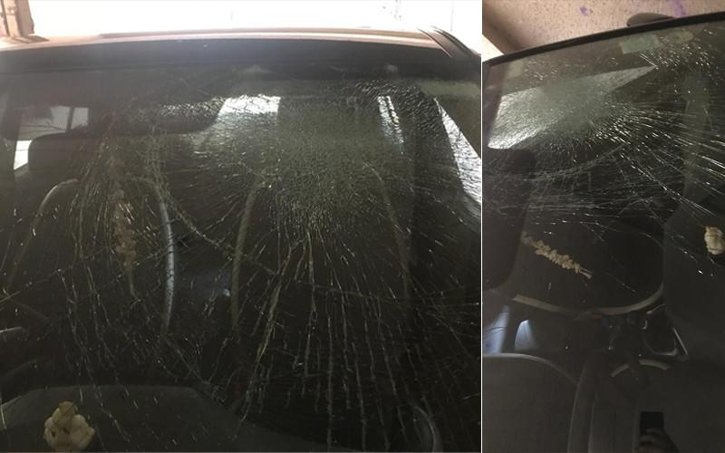 Pics of the damaged car