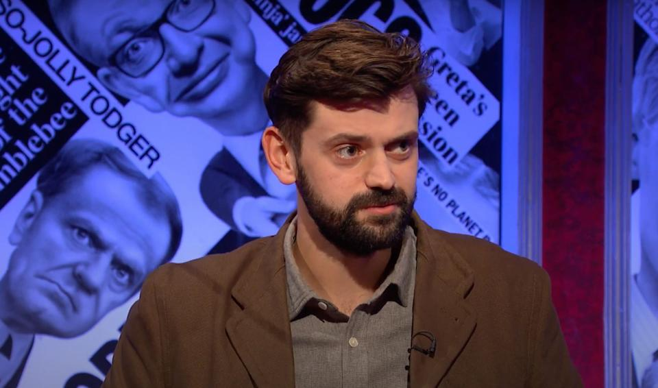 Fin Taylor on Have I Got News For You (Photo: BBC)