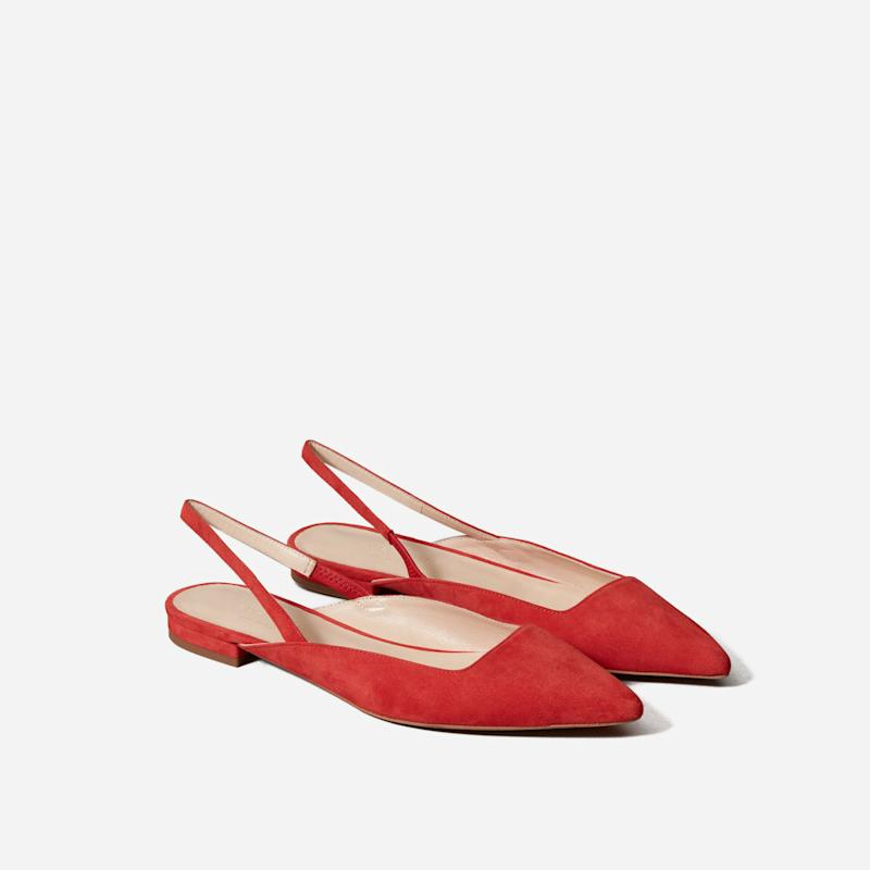 Editor Slingback in Persimmon Suede