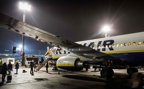 The passenger escaped from a Ryanair flight - Credit: FRANK RUMPENHORST/AFP