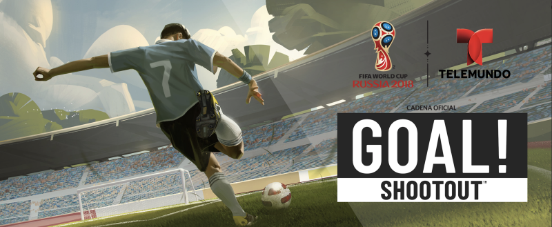 Telemundo, Universal and TreasureHunt are launching a shootout game in time for the World Cup