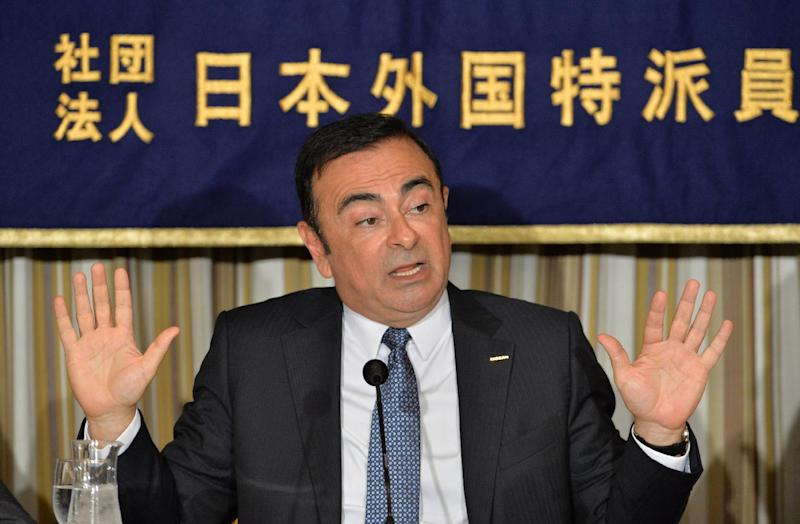CEO of Nissan-Renault Carlos Ghosn delivers a speech during a press conference at the Foreign Correspondents' Club of Japan in Tokyo on July 17, 2014