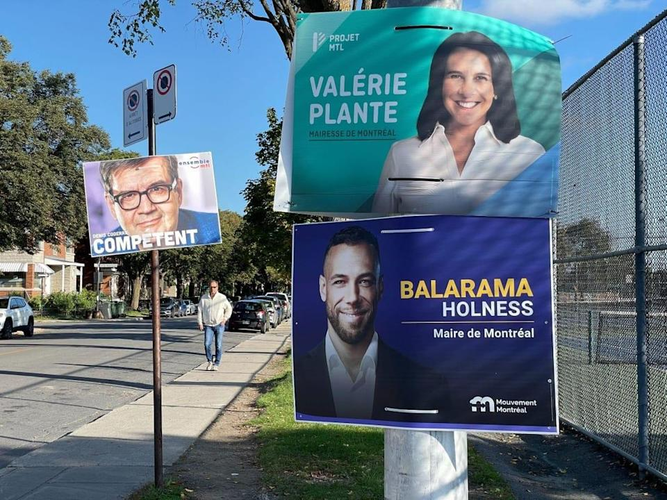 Valérie Plante of Projet Montréal is facing off against her predecessor, Denis Coderre, and newcomer Balarama Holness in the race for Montreal mayor. (Sarah Leavitt/CBC - image credit)