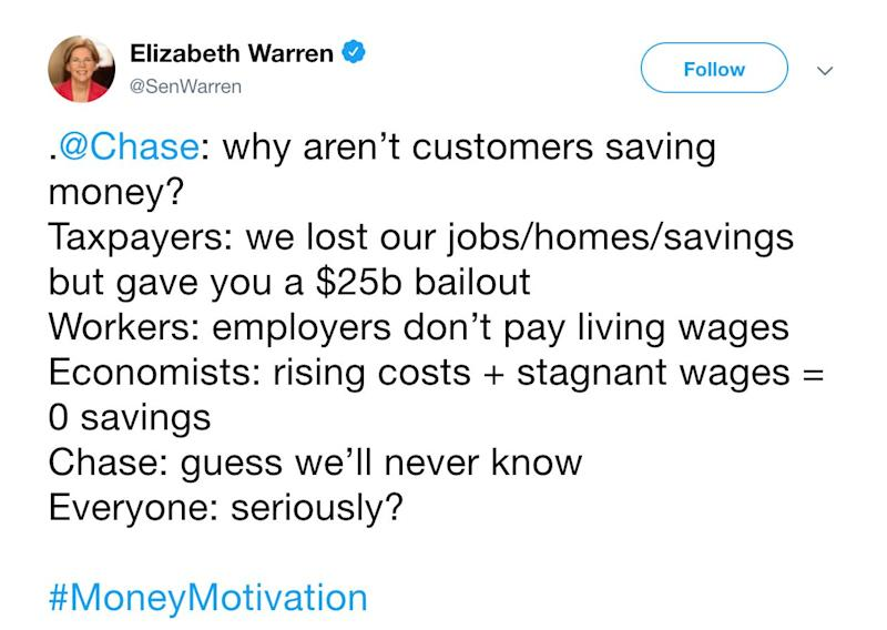 Chase tweets about budgeting, gets burned by Twitter
