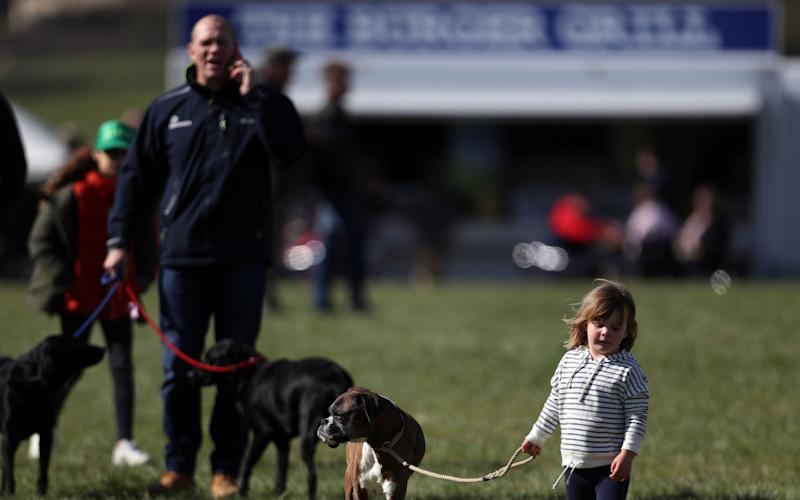 Mike Tindall with his daughter Mia  - Credit: Steve Parsons/PA