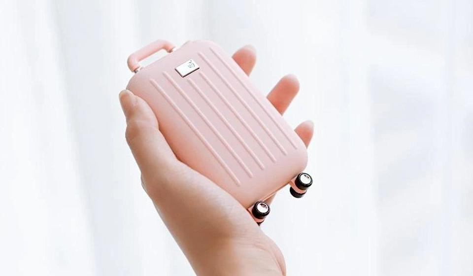 This cute little power bank is also a hand-warmer, making it the perfect carry-on. (See what I did there?) (Photo: Multitasky)