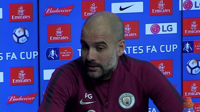 Manchester City manager pre match press conference for the game v Cardiff in FA Cup Round 4. Talking more about the opposition
