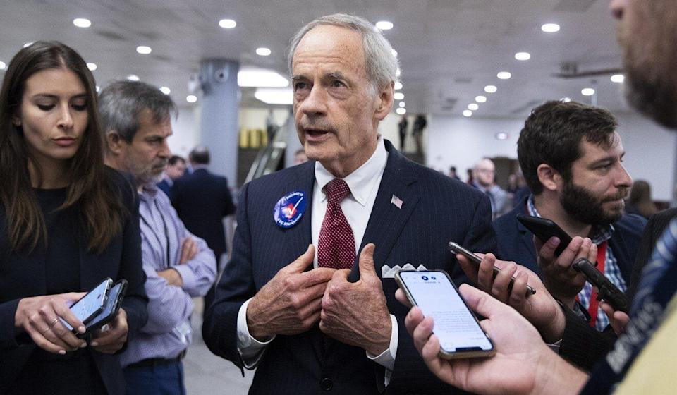 US Senator Tom Carper, a Democrat from Delaware, is chairman of the Senate Subcommittee on International Trade, Customs and Global Competitiveness. Photo: EPA-EFE