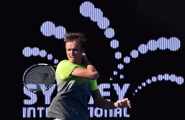 Daniil Medvedev of Russia upset Italian fourth seed Fabio Fognini 2-6, 6-4, 6-1 to reach the Sydney men's final (AFP Photo/Peter PARKS)