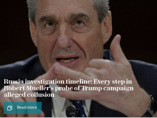 Russia investigation timeline: Every step in Robert Mueller's probe of Trump campaign alleged collusion