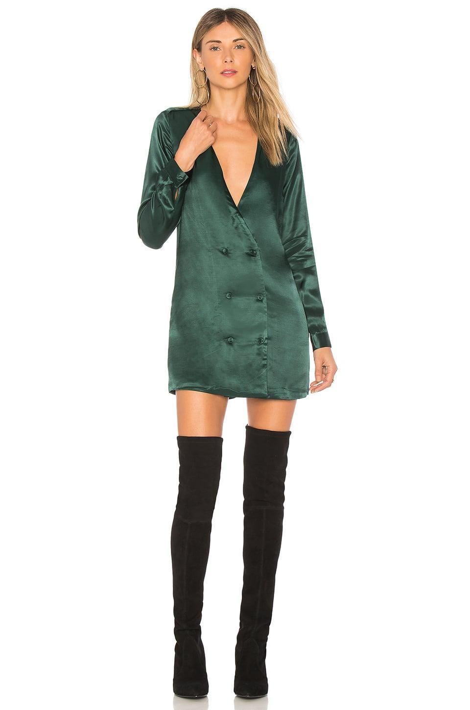 <p>The <span>L'Academie The Cadet Dress</span> ($178) looks good with tall riding boots.</p>