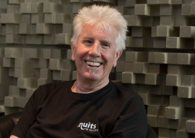 "Singer Graham Nash is interviewed during a break in the recording session for the audio book version of his ""Wild Tales: A Rock & Roll Life"" autobiography, in New York, Thursday, July 25, 2013. (AP Photo/Richard Drew)"