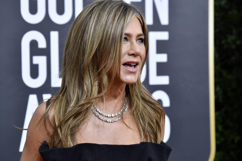 BEVERLY HILLS, CALIFORNIA - JANUARY 05: Jennifer Aniston attends the 77th Annual Golden Globe Awards at The Beverly Hilton Hotel on January 05, 2020 in Beverly Hills, California. (Photo by Frazer Harrison/Getty Images)