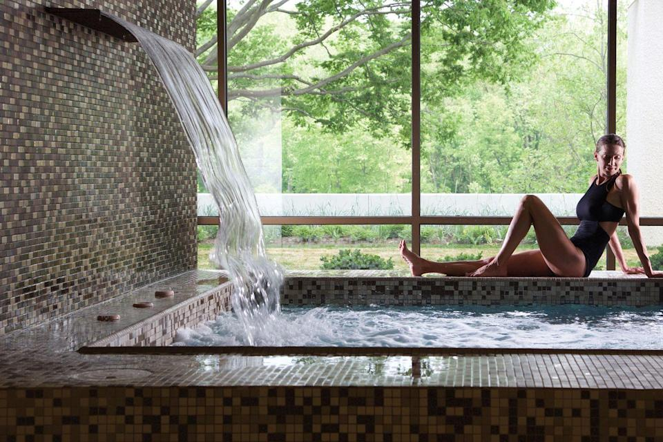 """<p>Picture this: You and your girls indulge in a relaxing spa morning at the beautifully landscaped <a href=""""http://www.turfvalley.com/"""" rel=""""nofollow noopener"""" target=""""_blank"""" data-ylk=""""slk:Turf Valley Resort"""" class=""""link rapid-noclick-resp"""">Turf Valley Resort</a> before taking your first balance board or wall yoga class at <a href=""""http://www.havenonthelake.org/"""" rel=""""nofollow noopener"""" target=""""_blank"""" data-ylk=""""slk:Haven on the Lake"""" class=""""link rapid-noclick-resp"""">Haven on the Lake</a>, a renowned wellness center. Next, sling back some brews at idyllic farm-side brewery <a href=""""http://manorhillbrewing.com/"""" rel=""""nofollow noopener"""" target=""""_blank"""" data-ylk=""""slk:Manor Hill"""" class=""""link rapid-noclick-resp"""">Manor Hill</a>, where corn hole and hop-forward beers await. When you're hungry, farmhouse-turned-restaurant <a href=""""http://www.ironbridgewines.com/home"""" rel=""""nofollow noopener"""" target=""""_blank"""" data-ylk=""""slk:Iron Bridge Wine Co."""" class=""""link rapid-noclick-resp"""">Iron Bridge Wine Co.</a> offers 30 wines on tap and a patio made for watching the sunset. Sold? Well, just in case you need an extra nudge of convincing, think of all the insanely gorgeous trails (Waterfalls! Majestic trees! Bridges!) to trek through at <a href=""""http://dnr2.maryland.gov/publiclands/Pages/central/patapsco.aspx"""" rel=""""nofollow noopener"""" target=""""_blank"""" data-ylk=""""slk:Patapsco Valley State Park"""" class=""""link rapid-noclick-resp"""">Patapsco Valley State Park</a>.</p><p><strong><em>For more information, visit </em></strong><a href=""""https://www.visithowardcounty.com/"""" rel=""""nofollow noopener"""" target=""""_blank"""" data-ylk=""""slk:visithowardcounty.com"""" class=""""link rapid-noclick-resp""""><strong><em>visithowardcounty.com</em></strong></a><strong><em>.</em></strong></p>"""