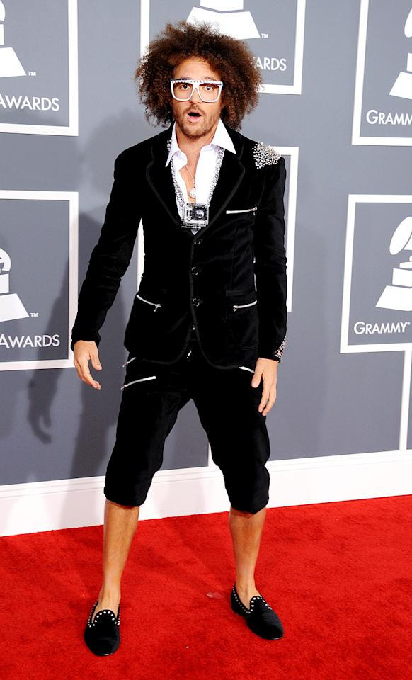 LOS ANGELES, CA - FEBRUARY 10:  Musician LMFAO Redfoo attends the 55th Annual GRAMMY Awards at STAPLES Center on February 10, 2013 in Los Angeles, California.  (Photo by Steve Granitz/WireImage)