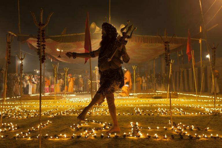 Shiv Yogi Moni Swami is among some 10 million Hindus who participate in the 45-day religious festival