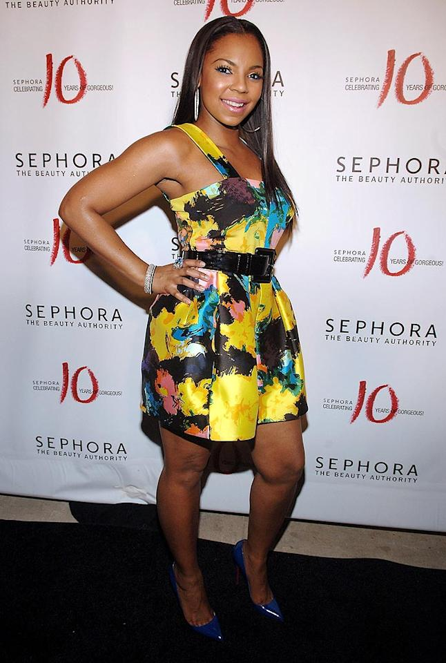 """Ashanti just bought herself a one way ticket to next week's """"What Were They Thinking?!"""" gallery thanks to this floral flop. Jamie McCarthy/<a href=""""http://www.wireimage.com"""" target=""""new"""">WireImage.com</a> - July 17, 2008"""