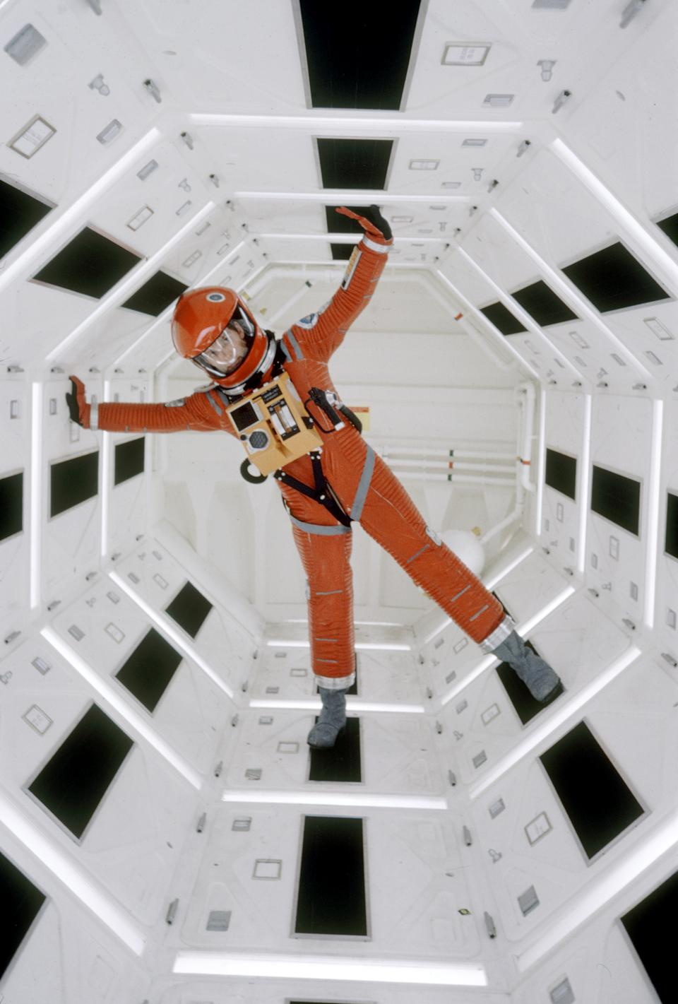 Actor Keir Dullea in space suit in scene from motion picture 2001: A Space Odyssey.  (Photo by Dmitri Kessel/The LIFE Picture Collection via Getty Images)